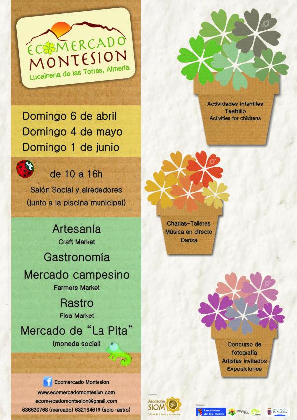 Ecomercado Montesion, domingo 6 abril, Lucainena de las Torres, Almería